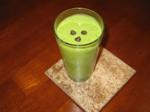 a very green smoothie!