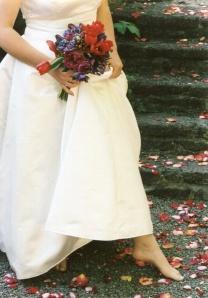 foot and petals